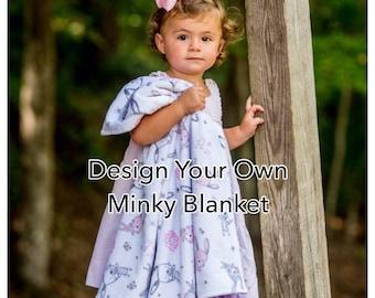 SALE   Design Your Own Minky Blanket