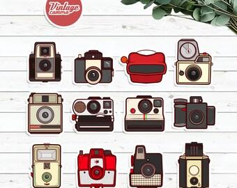 Sticker Pack : Mini Vintage Camera