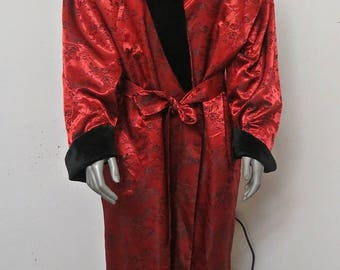 Red Brovade Robe Dressing Gown extra Large  #115