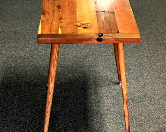 mid century modern entryway table hallway table with splayed legs