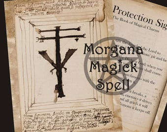 A PROTECTION SIGIL, Ancient Spell Instant Download, Occult Symbol,Alchemy, Mythological,Digital Download, Occult Book of Shadows Page