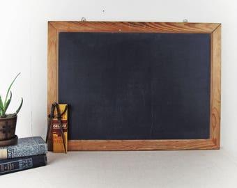 vintage chalkboard, vintage school slate, slate chalkboard, schoolhouse slate, industrial school chalkboard circa 1940