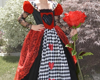 Queen Of Hearts Costume Dress, Girls