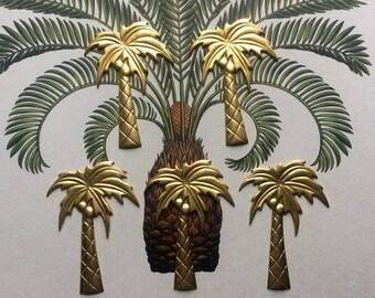 Retro Coconut Palm Tree (2 pc)