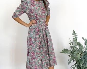 Pretty Cotton Floral Print Dress