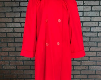 Vintage 90s Red Swing Coat Peacoat Size Large