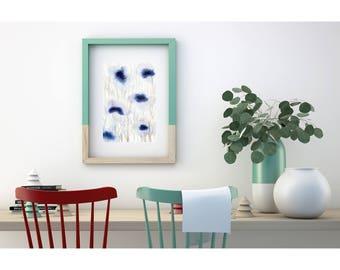 Abstract Flower Painting. Original Artwork. Floral Art. Original Painting. Contemporary art. Original illustration. Original wall art