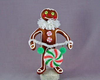 Polymer Clay Gingerbread Man Figurine