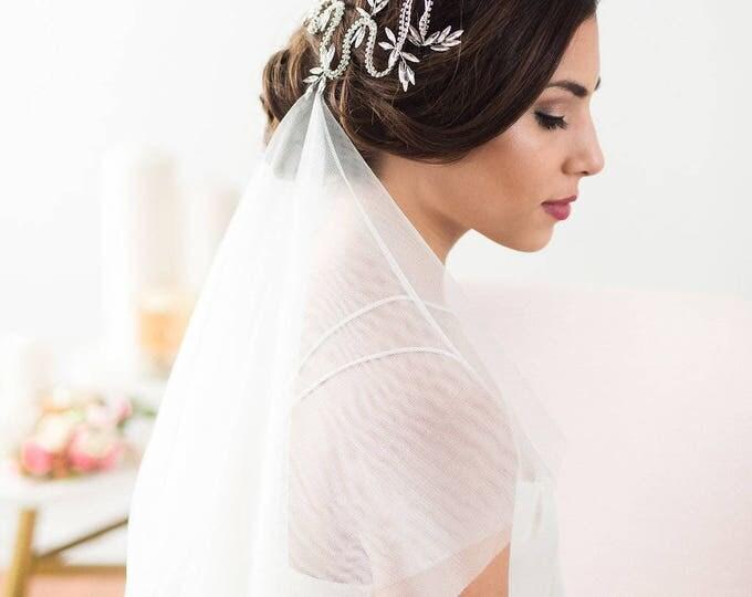 Silver Hair Vine, Wedding Hair Accessories, Bridal Headpiece, Silver Crystal Headpiece, Hair Vine, Dragon Headpiece, Bridal Accessories