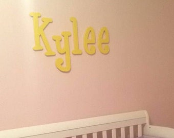 "On Sale - Painted Wooden Letters - Custom wooden name signs - Wall Hanging Letters - Nursery Letters, 10"" tall"