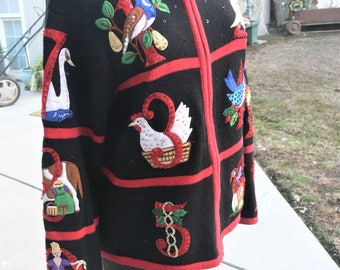 Christmas sweater size large l
