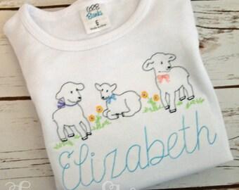 Easter Shirt * Spring Shirt * Easter Ruffle Shirt * Easter Girl Shirt