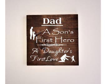 Wood Sign | Dad Sign | Fathers Day Sign | Fathers Day Gift | Hand Painted | Sons and Daughters | Gift For Dad 22008