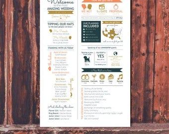 Custom Infographic Wedding Ceremony Program