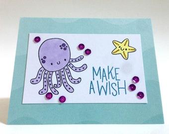First Birthday Card - Daughter Birthday Card - Little Girl Birthday Card - Granddaughter Card - Under the Sea Card - Ocean Card - Niece Card