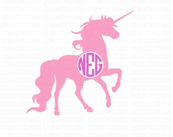 Unicorn Monogram Svg, Unicorn Monogram,Unicorn Svg, SVG Files, Cricut SVG, Silhouette SVG