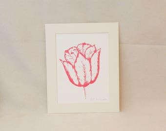Red Tulip print