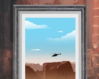 Airwolf 80's Minimalist Movie Poster - Alternative Poster - Poster Art Print -  TV Poster Wall Art- Man Cave - Cinema Room