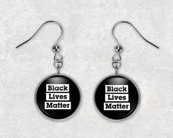 Black Lives Matter Earrings Black Lives Matter Jewelry 18mm