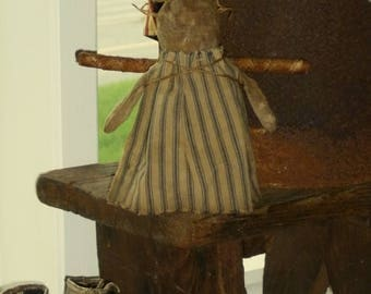 Primitive Angel Rag Doll ~ vintage fabrics - ready to ship