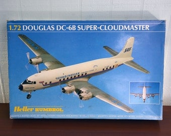 NEW 1.72 Douglas DC-6B Scandanavian Airlines Super Cloudmaster Airplane Build Your Own Model Kit Humbrol Heller France
