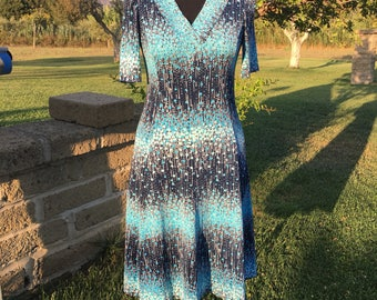Vintage light blue dress '70s Italy