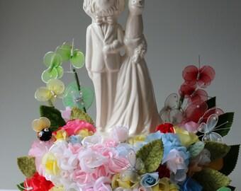 Lion and Unicorn Wedding Cake Topper Handmade