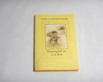 God Is Everywhere Barbara Burrow-Mary Hamilton 1968 Hallmark Editions HC Book w/ Dust Jacket