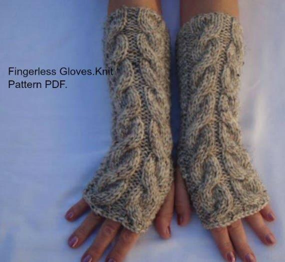 Driving Gloves Knitting Pattern : Fingerless Gloves.Mitts.Knitting Pattern PDF. 3Sizes,2 ...