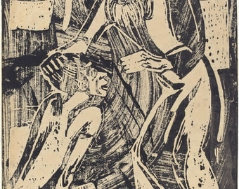 20th Century Expressionism: Return of the Prodigal Son, (Rudkkehr des Verlorenen Sohnes), 1916 byChristian Rohlfs. Fine Art Reproduction.