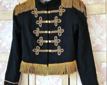 Retro Military Style Jacket CharmingBoho Style Size medium