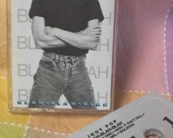 """Iggy Pop """"Blah-Blah-Blah"""" 1986 cassette tape"""