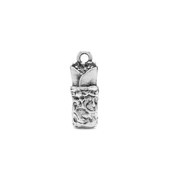 Burrito Charm - Add a Charm to Our Custom Charm Bracelets, Necklaces or Key Chains - Read Description for More Info - Nickel Free Charms