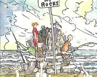 Keep Off Rocks Blank Greeting Card by Tony Troy
