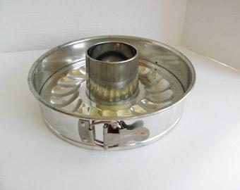 "Original Kaiser La Forme Springform Round Baking Pan 9.5"", 2 bottoms, Made in W Germany Bundt Food Photography Prop"