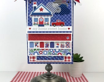 Home Family Scrapbook Kit or Premade Album July 4th Friends Everyday