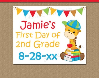 Printable Sign for First Day of School, Back to School Sign Download, Last Day of School Sign, First of Day Personalized Sign, EDITABLE SIGN