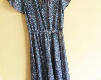 Sheer 70s Hippie Dress // vintage