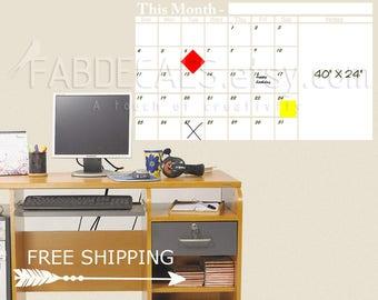 whiteboard calendar office monthly planner dry erase calendar large wall calendar whiteboard