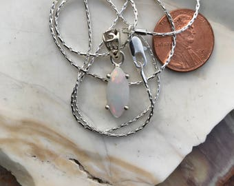 Ethiopian Welo Opal  Pendent and Chain