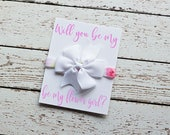 Will you be my Flower Girl, Help me Tie The Knot,Flower Girl Proposal Gift, Navy Flower Girl Gift, Flower Girl Proposal - Flower Girl Favors