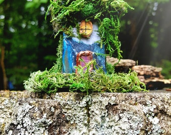 Blue storm fairy house