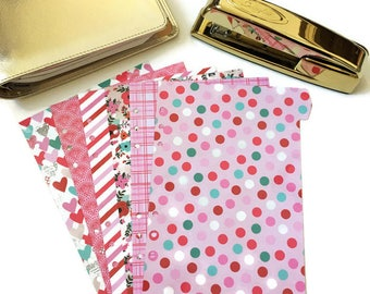 Valentine Planner Dividers / A5 or Personal Planner Dividers / A5 Planner Dividers / Personal Planner Dividers / Valentine Dividers
