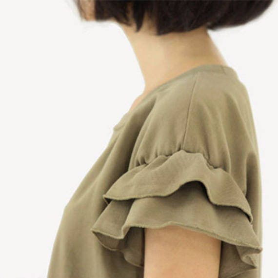 Women Dress Champagne Soft Cotton Dress Lace Dress