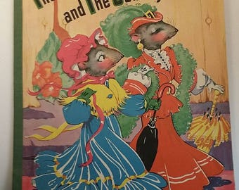 Vintage Children's Picture Book - The Town Mouse and The Country Mouse, 1942, Saalfield Publishing, Illustrations by Ethel Hayes