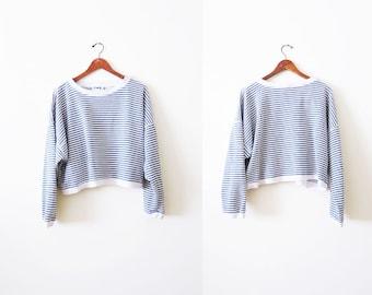 90s Sweatshirt / Striped Sweatshirt / Grunge Sweatshirt / Baggy Sweater/ Slouchy Sweater / 90s Clothes / Oversized Sweatshirt / Pullover