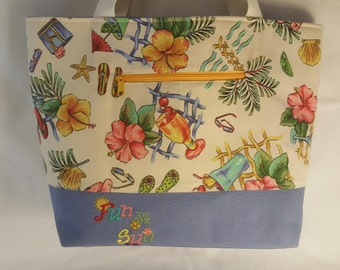 Extra Large Beach Bag Tote, Handmade, Embroidered tote, canvas beach bag