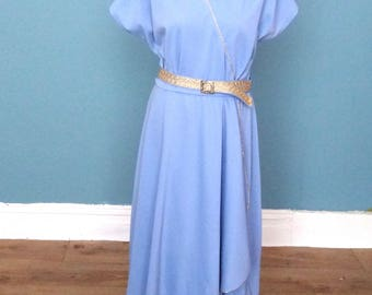 Vintage 80's Grecian Style Wrap Dress UK Size 14