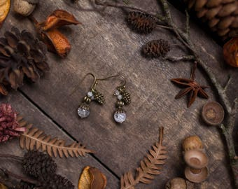 Quartz moonstone Earrings