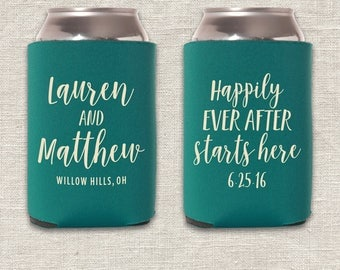 Happily Ever After Starts Here - Wedding Can Cooler